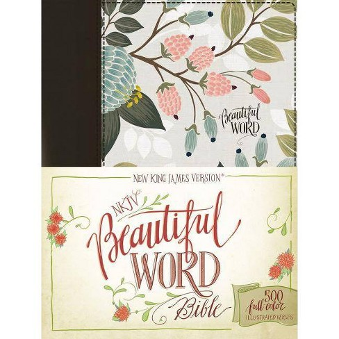 NKJV, Beautiful Word Bible, Hardcover, Multi-Color Floral Cloth, Red Letter Edition - by  Zondervan - image 1 of 1