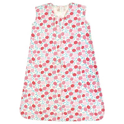 Touched by Nature Baby Girl Organic Cotton Sleeveless Wearable Sleeping Bag, Sack, Blanket, Rosebud