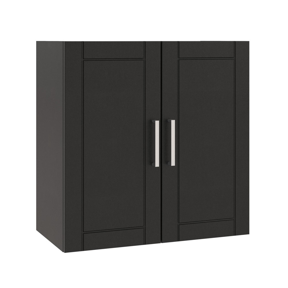 24 Welby Wall Cabinet Black - Room & Joy