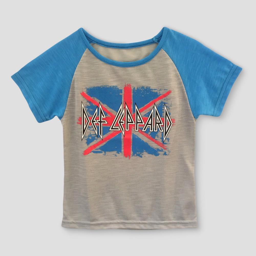 Toddler Girls' Def Leppard Short Sleeve T-Shirt - Gray 3T