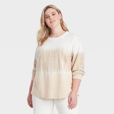Women's Plus Size Sweatshirt - Ava & Viv™ White