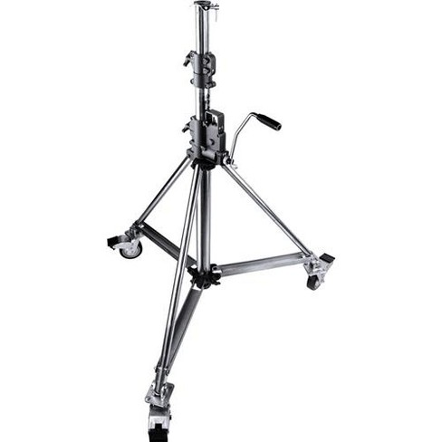 Kupo Heavy Duty Wind-Up Low Base Steel Stand, 8.8', Chrome - image 1 of 1