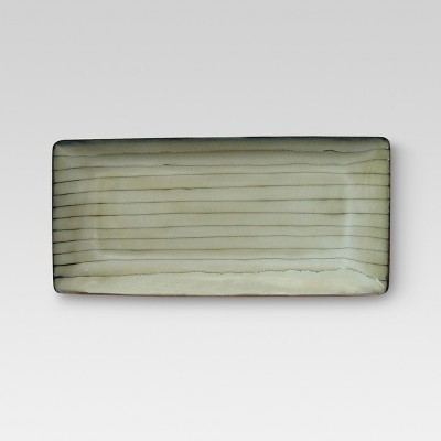 Bamboo Stoneware Serving Platter (Medium)- Threshold™