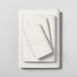 Sheet Set Organic Printed Microstripe - Hearth & Hand™ with Magnolia
