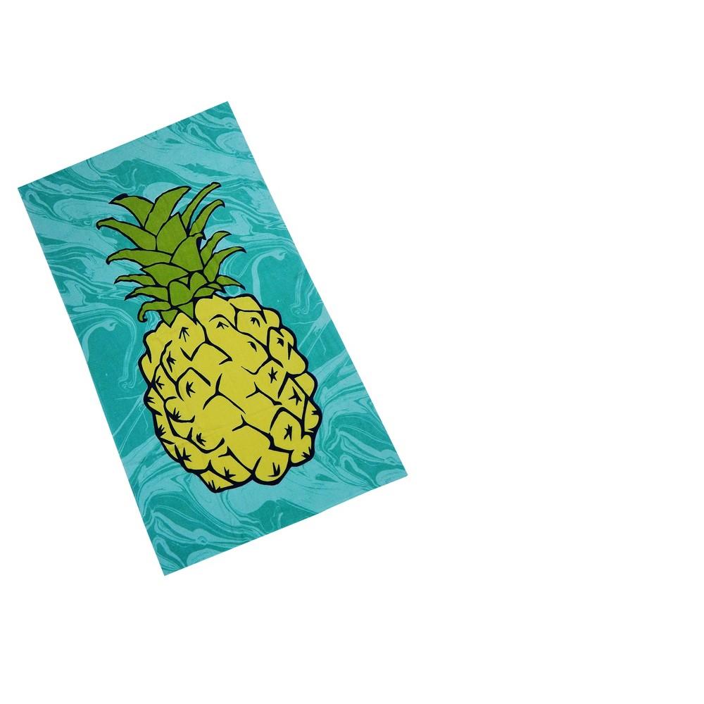 Marble Pineapple Beach Towel Green