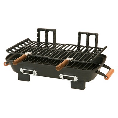 Century Cast Iron Charcoal Hibachi with Cast Iron Grill Grids