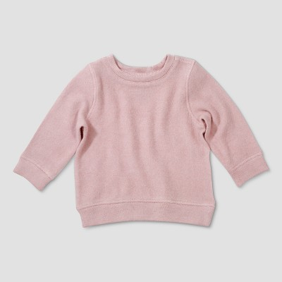 Baby Girls' Afton Street Long Sleeve Pullover - Red Newborn