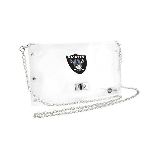 NFL Oakland Raiders Clear Envelope Purse - image 1 of 1