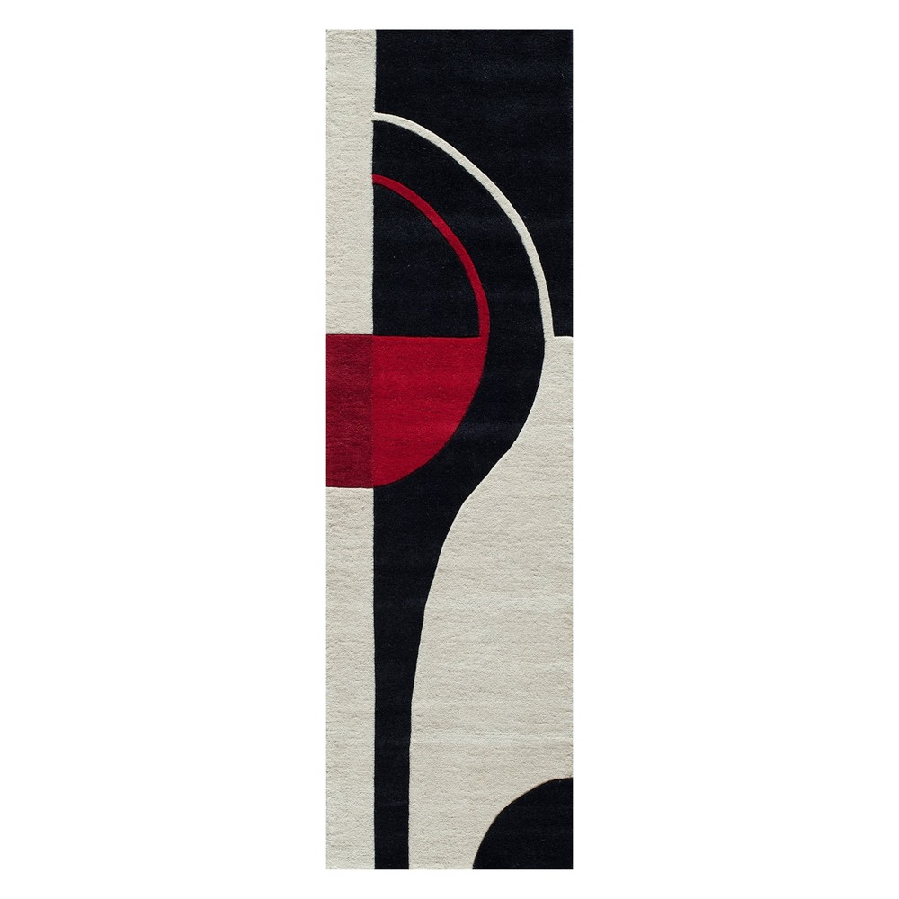 2'3X8' Geometric Tufted Runner Black - Momeni