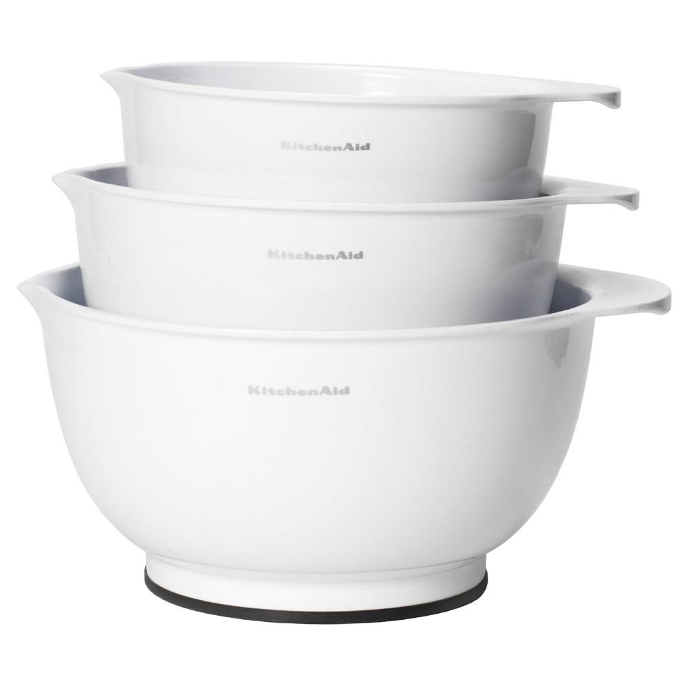 Image of KitchenAid Classic Mixing Bowls Set of 3 White