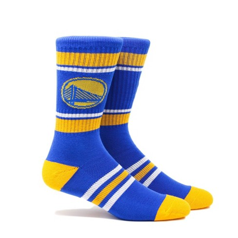 NBA Golden State Warriors Stripe Crew Socks - L - image 1 of 2