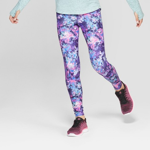 639deb1c0b0cd Girls' Printed Leggings Floral Print - C9 Champion® Purple/Pink : Target