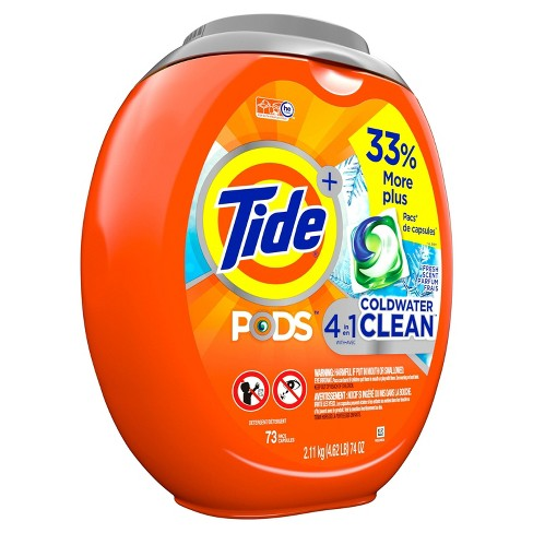 Tide Pods Laundry Detergent Pacs Coldwater Clean - 73ct - image 1 of 3