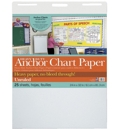 Pacon Anchor Chart Paper, 24 x 32 Inches, Unruled, 25 Sheets - image 1 of 1