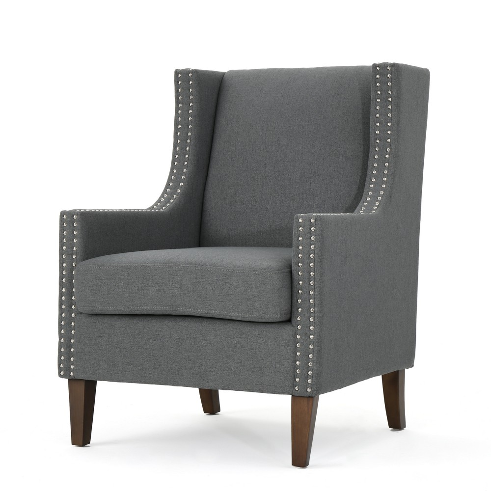 Kason Arm Chair - Charcoal (Grey) - Christopher Knight Home