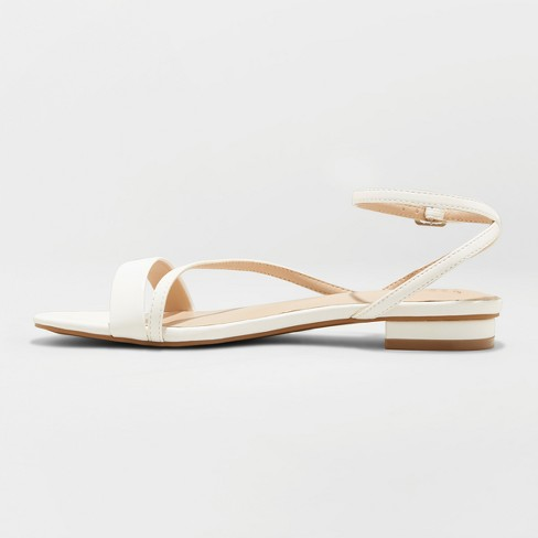 d240695f3a1 Women s Isma Barely There Ankle Strap Sandals - A New Day™ White 5.5 ...
