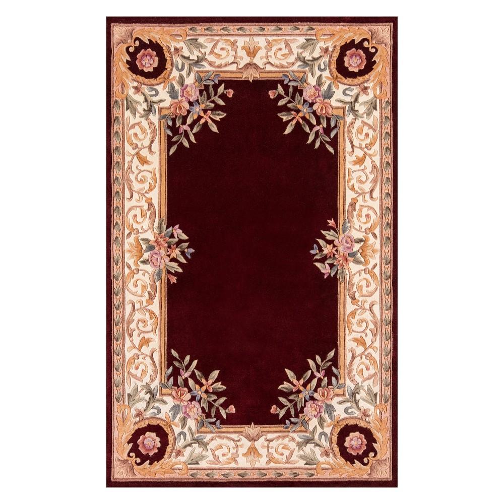 5'X8' Floral Tufted Area Rug Burgundy (Red) - Momeni