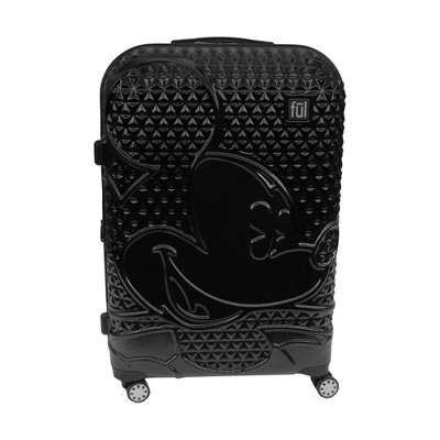 "FUL Disney Mickey Mouse Textured 29"" Hardside Rolling Suitcase - Black"