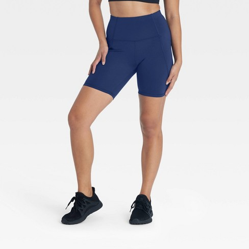 """Women's Sculpted Linear High-Waisted Bike Shorts 7"""" - All in Motion™ - image 1 of 4"""