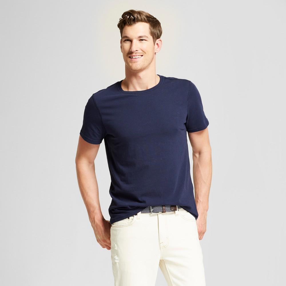 Men's Standard Fit Short Sleeve Sensory Friendly Crew T-Shirt - Goodfellow & Co Xavier Navy XL