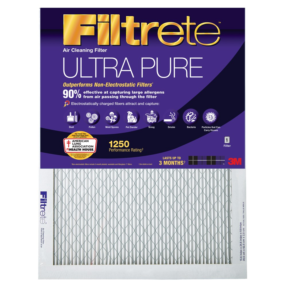 Filtrete Ultra Allergen Air Cleaning Filters UP01-4, Black