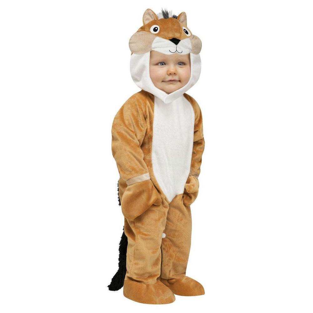 Baby Kids' Chipper Chipmunk Costume 12-24 Months, Kids Unisex, Size: 12-24M, Brown