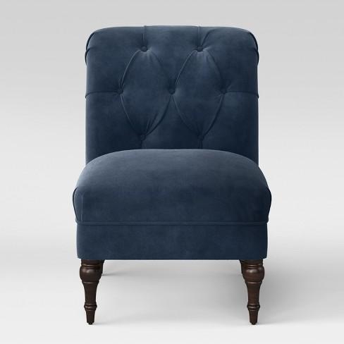Wales Rollback Tufted Turned Leg Slipper Chair Threshold