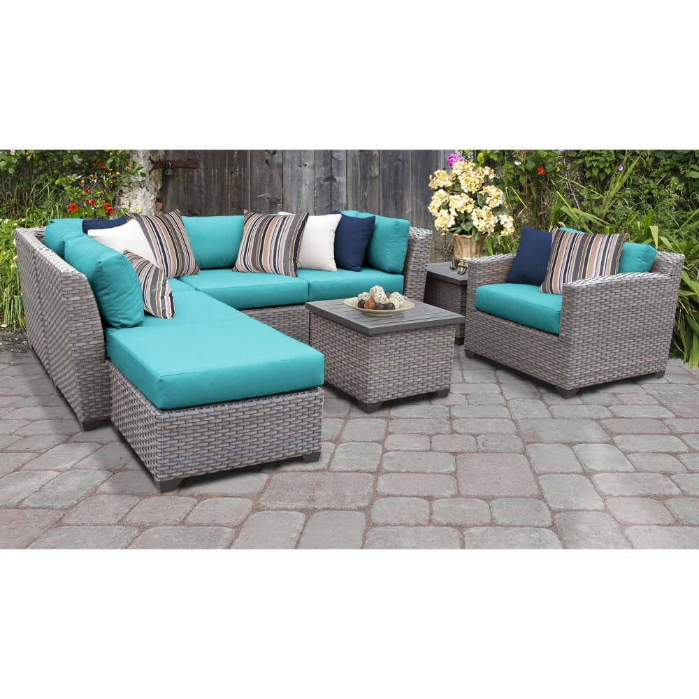 Florence 8pc Sectional Seating Group With Cushions Aruba Tk Classics