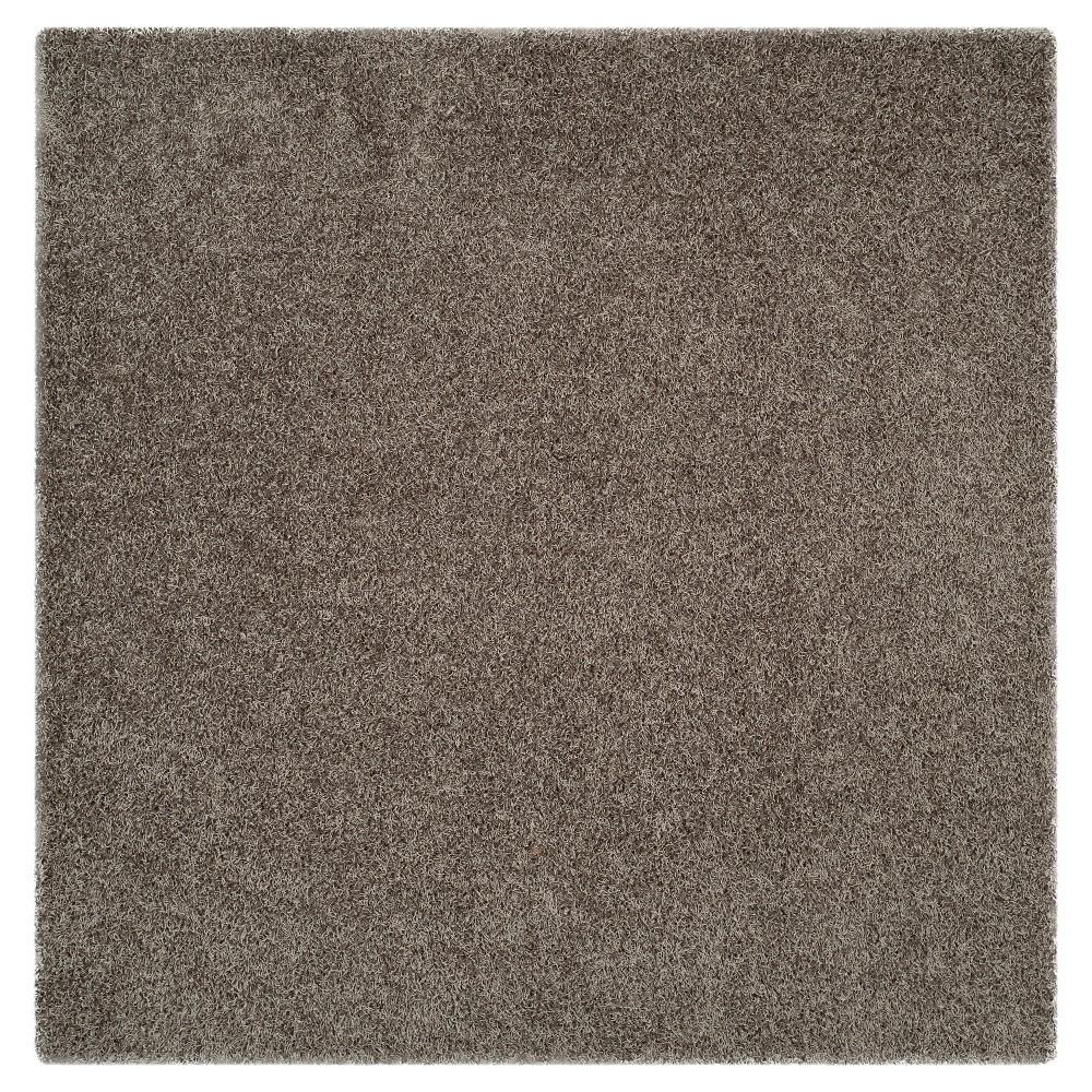 Silver Solid Shag/Flokati Tufted Square Area Rug - (5'X5') - Safavieh