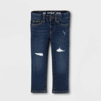 Toddler Girls' Lace Repair Skinny Jeans - Cat & Jack™ Dark Wash