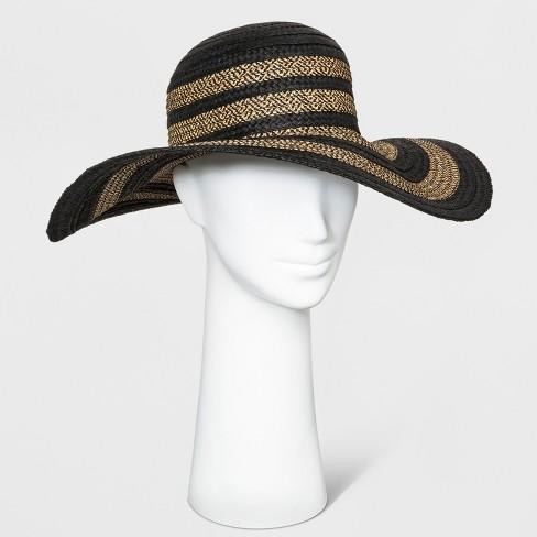 44870525882 Women s Mix Braid Floppy Hat - A New Day™ Black   Target