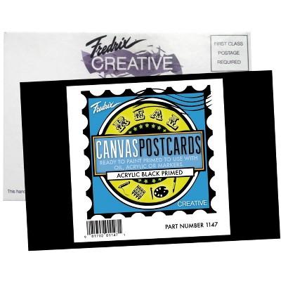 Fredrix Canvas Postcard, 4 x 6 Inches, Black, pk of 25