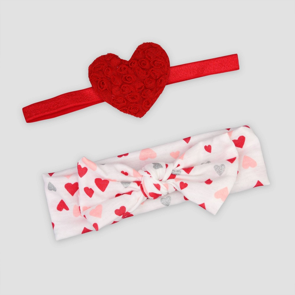 Image of Baby Girls' 2pk Heart Headwrap - Just One You made by carter's