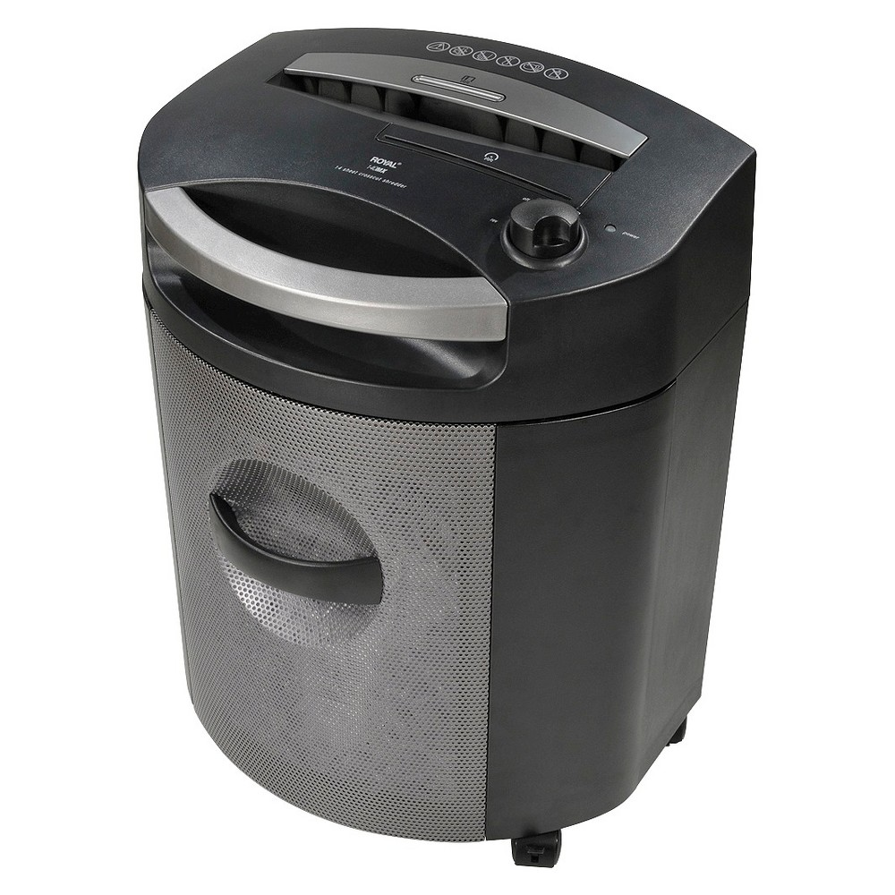 Image of Royal 14-Sheet Cross Cut Paper Shredder with Pullout Basket, Black