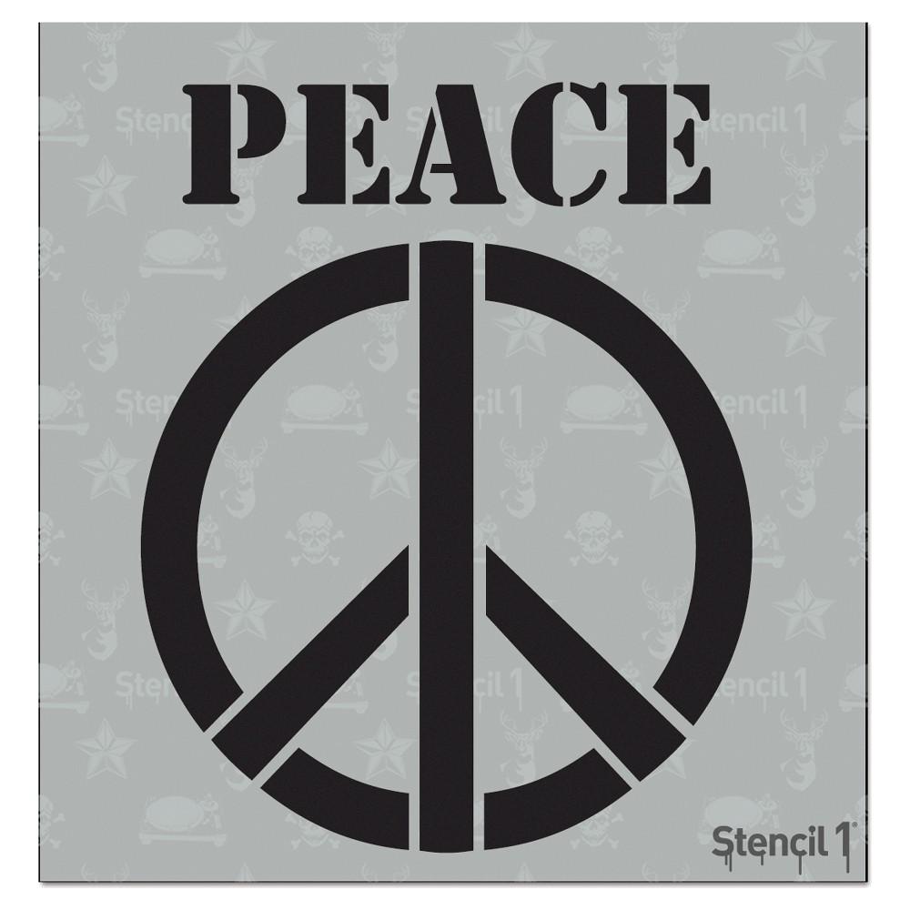 Stencil1 Peace Sign - Stencil 5.75