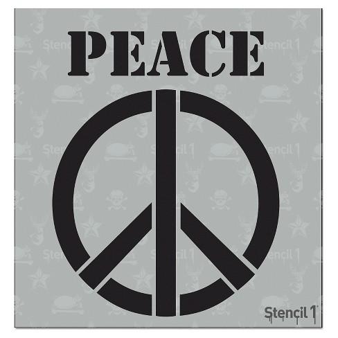 """Stencil1® Peace Sign - Stencil 5.75"""" x 6"""" - image 1 of 3"""