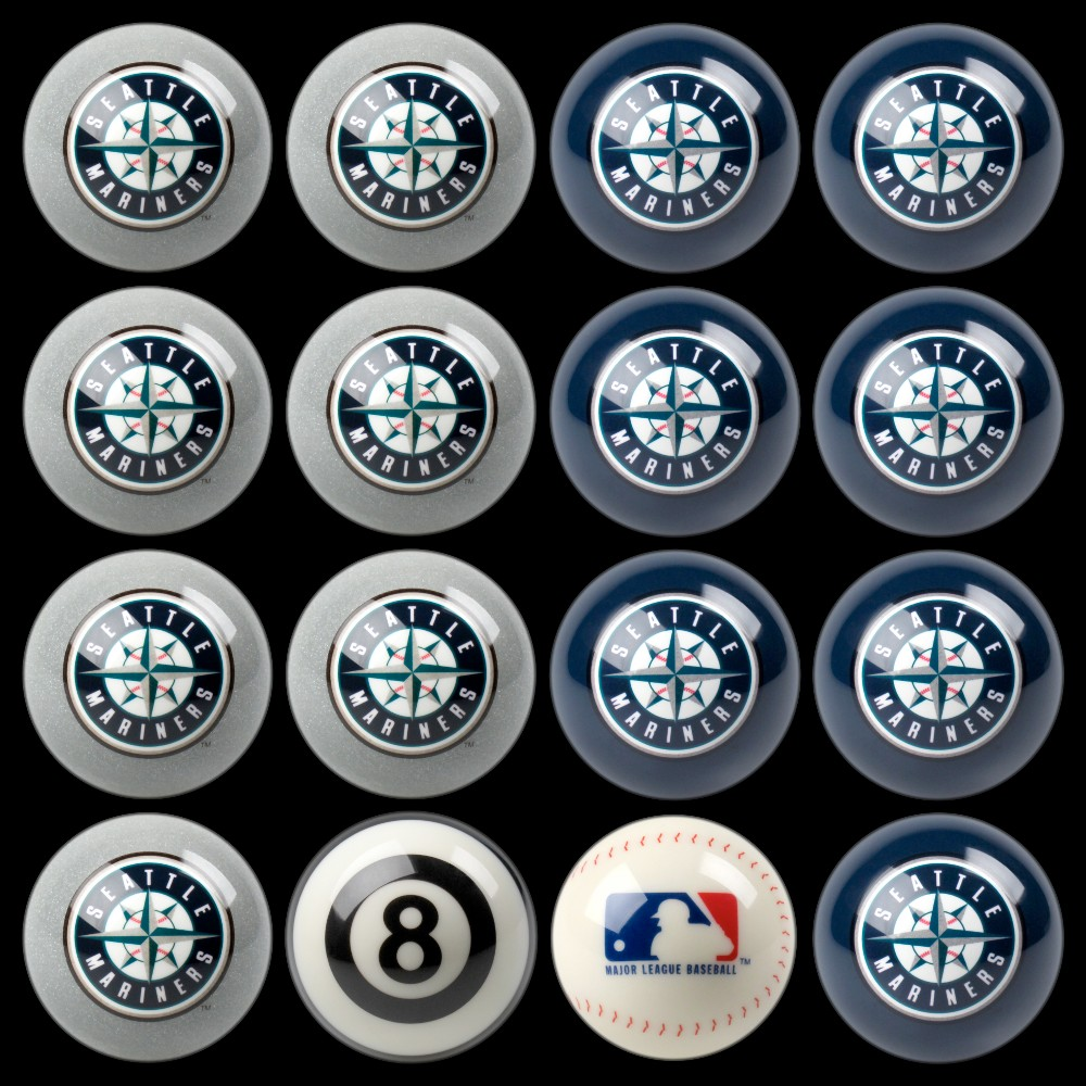 Seattle Mariners Imperial Home vs. Away Billiards Ball Set
