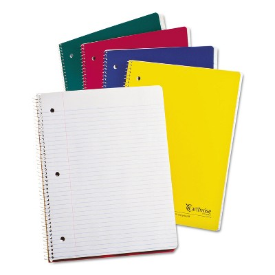 Oxford Earthwise 100% Recycled Single Subject Notebooks 8 1/2 x 11 White 100 Sheets 25207