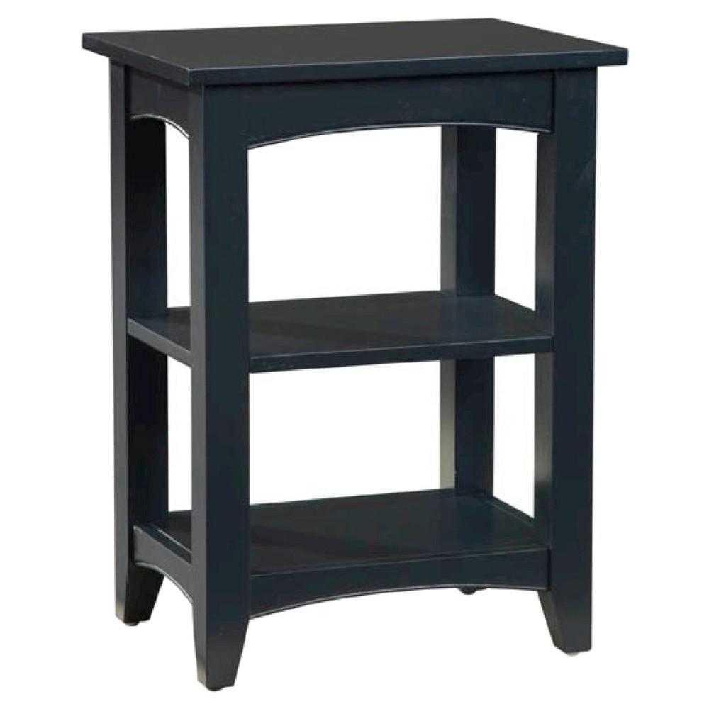 2-Shelf Side Table Hardwood Grayish Black - Alaterre Furniture, Blac/Gray