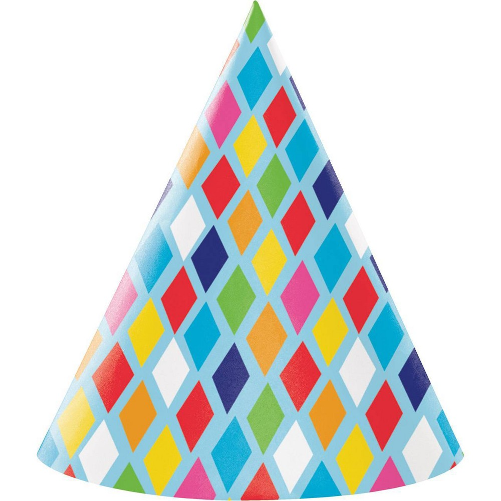 Image of 24ct Bright Birthday Party Hats