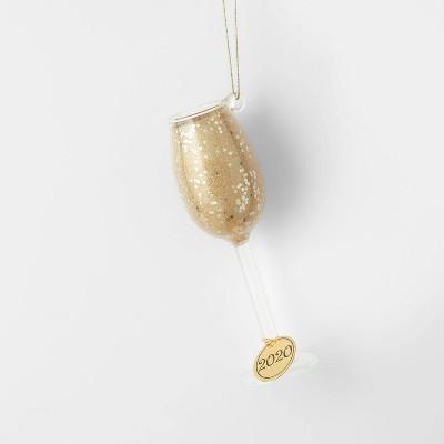 Glass of Champagne Glass Christmas Tree Ornament - Wondershop™