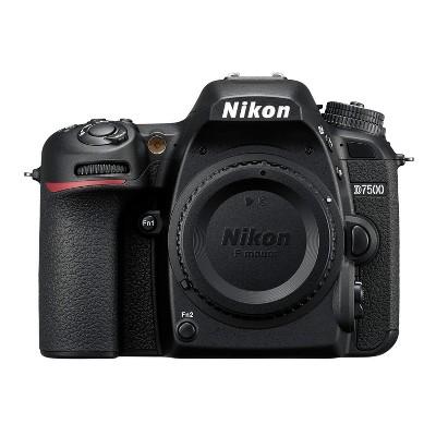 Nikon D7500 DX-Format DSLR Camera (Body Only, Black)