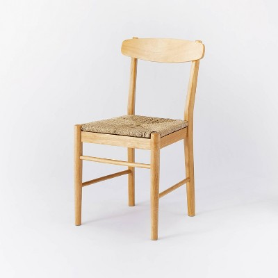 Logan Wood Dining Chair with Woven Seat Natural - Threshold™ designed with Studio McGee