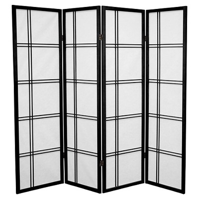 5 ft. Tall Double Cross Shoji Screen (4 Panels) - Oriental Furniture
