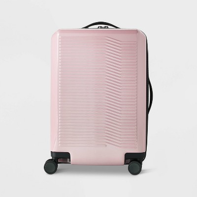 """Hardside 21"""" Carry On Suitcase Pink- Open Story™"""