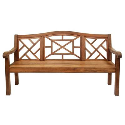 "72.5"" Eucalyptus Carlton Bench Natural Oil Finish - ACHLA Designs"