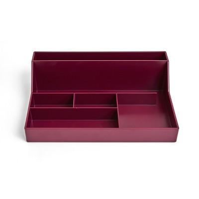 TRU RED 6-Compartment Plastic Desktop Organizer, Purple TR55262