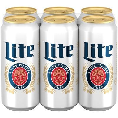 Miller Lite Beer - 6pk/16 fl oz Cans