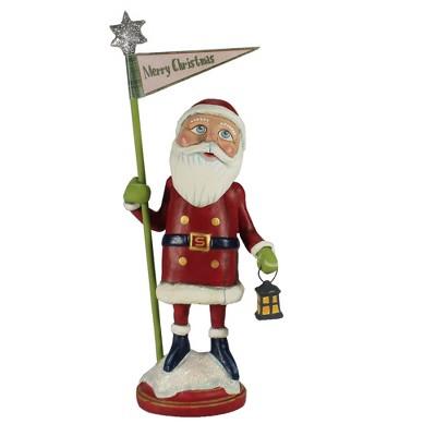 "Christmas 13.0"" Merry Christmas Santa Banner Lantern  -  Decorative Figurines"