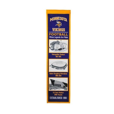fda8b254 NFL Minnesota Vikings Stadium Evolution Banner